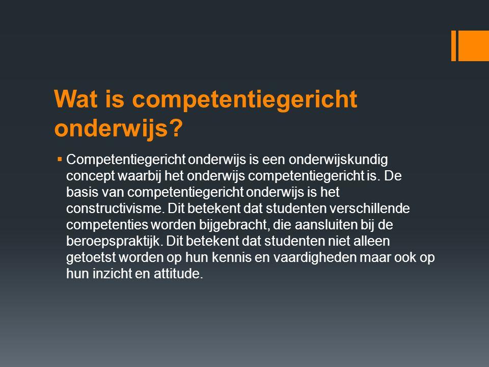 Wat is competentiegericht onderwijs