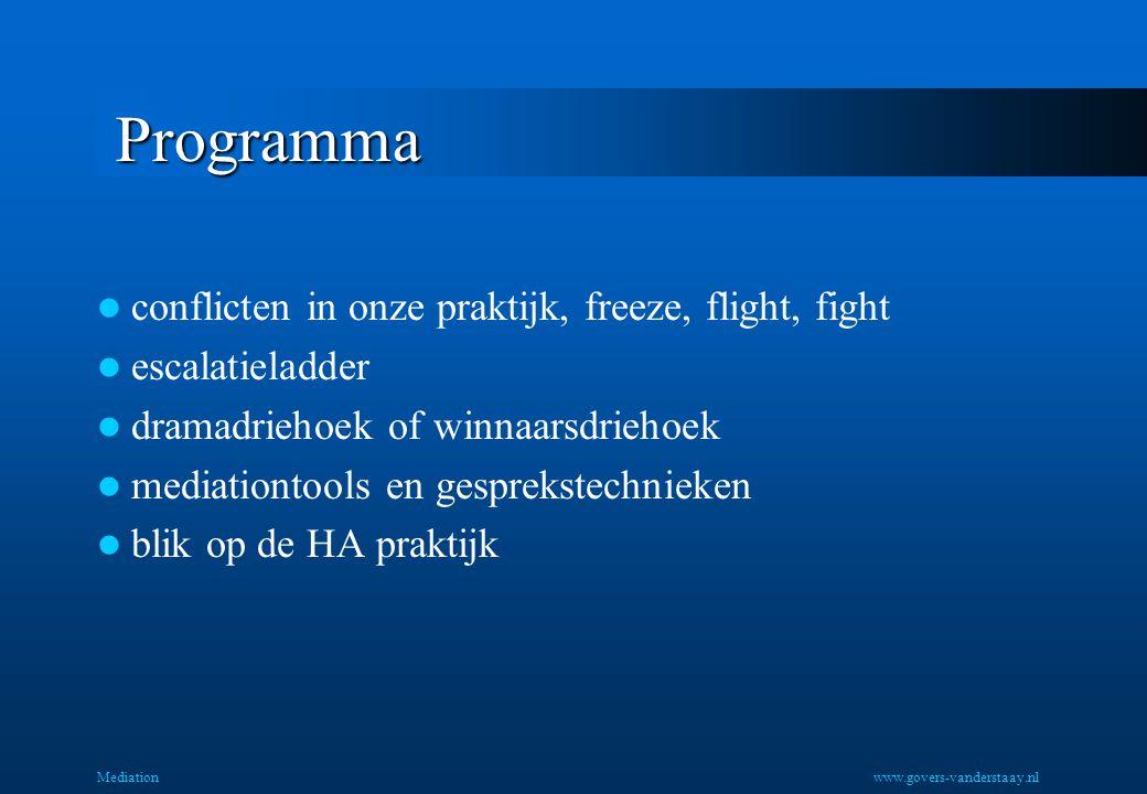Programma conflicten in onze praktijk, freeze, flight, fight