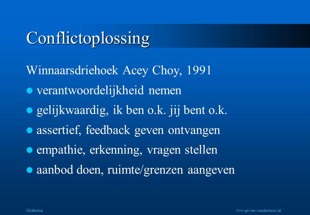 Conflictoplossing Winnaarsdriehoek Acey Choy, 1991