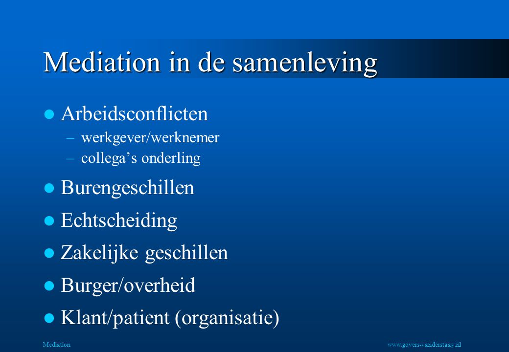 Mediation in de samenleving