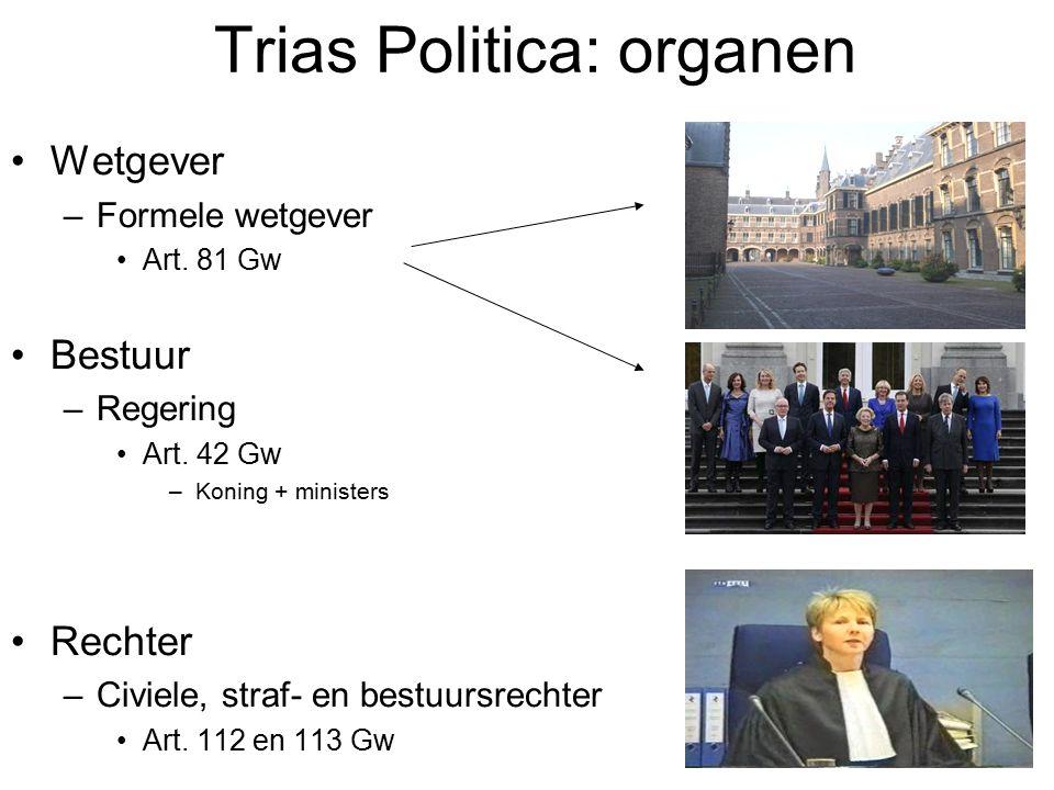 Trias Politica: organen