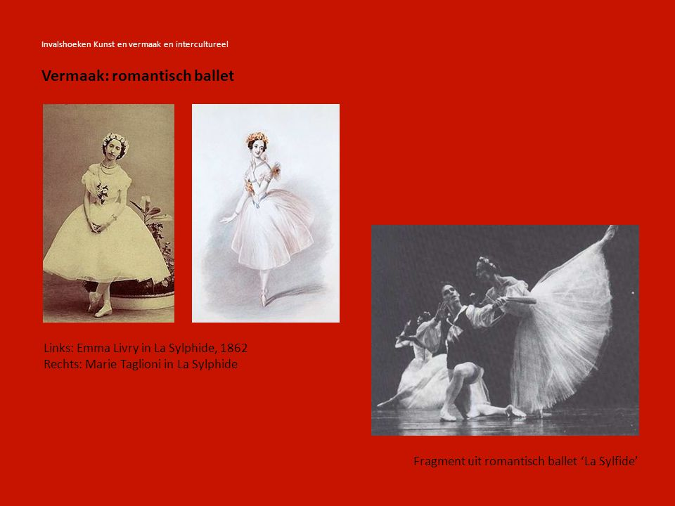 Vermaak: romantisch ballet