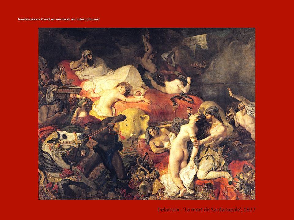 Delacroix - 'La mort de Sardanapale', 1827