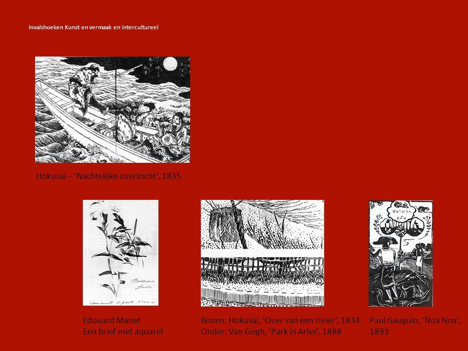 Hokusai – 'Nachtelijke overtocht', 1835