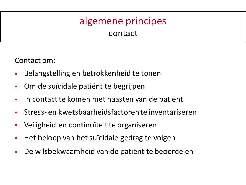 algemene principes contact Contact om: