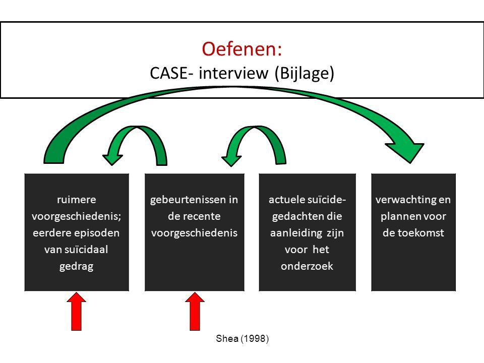 Oefenen: CASE- interview (Bijlage)