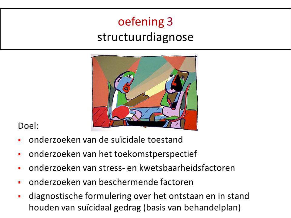 oefening 3 structuurdiagnose Doel: