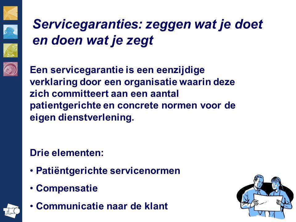 Servicegaranties: zeggen wat je doet en doen wat je zegt