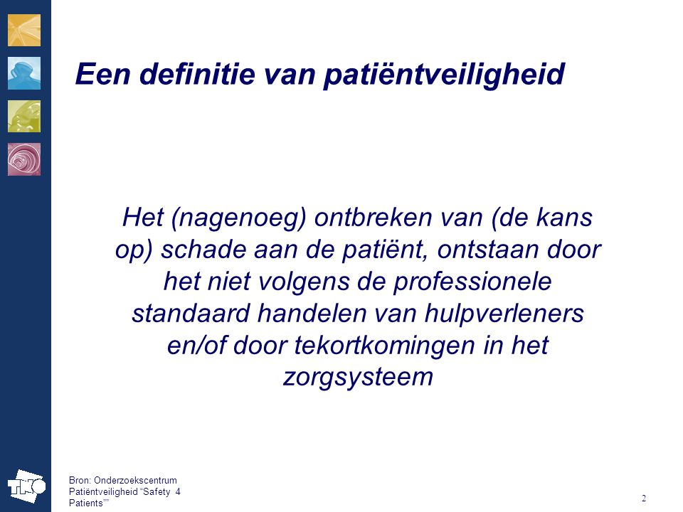 Een definitie van patiëntveiligheid