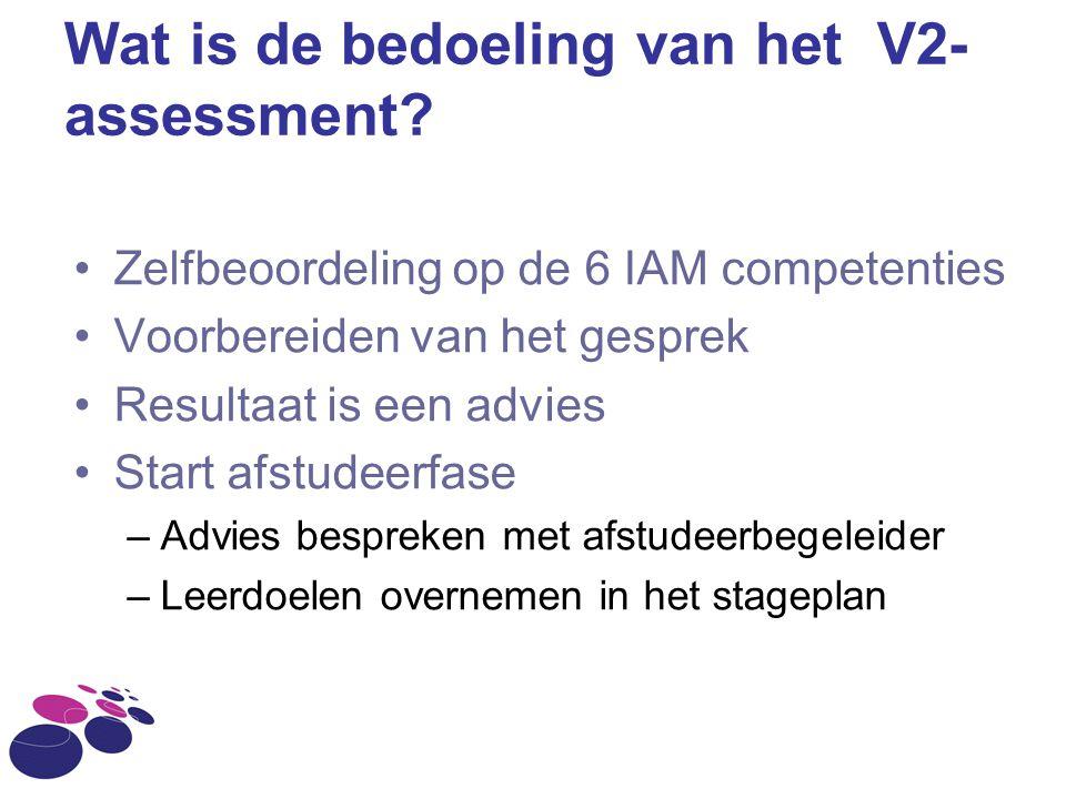 Wat is de bedoeling van het V2-assessment