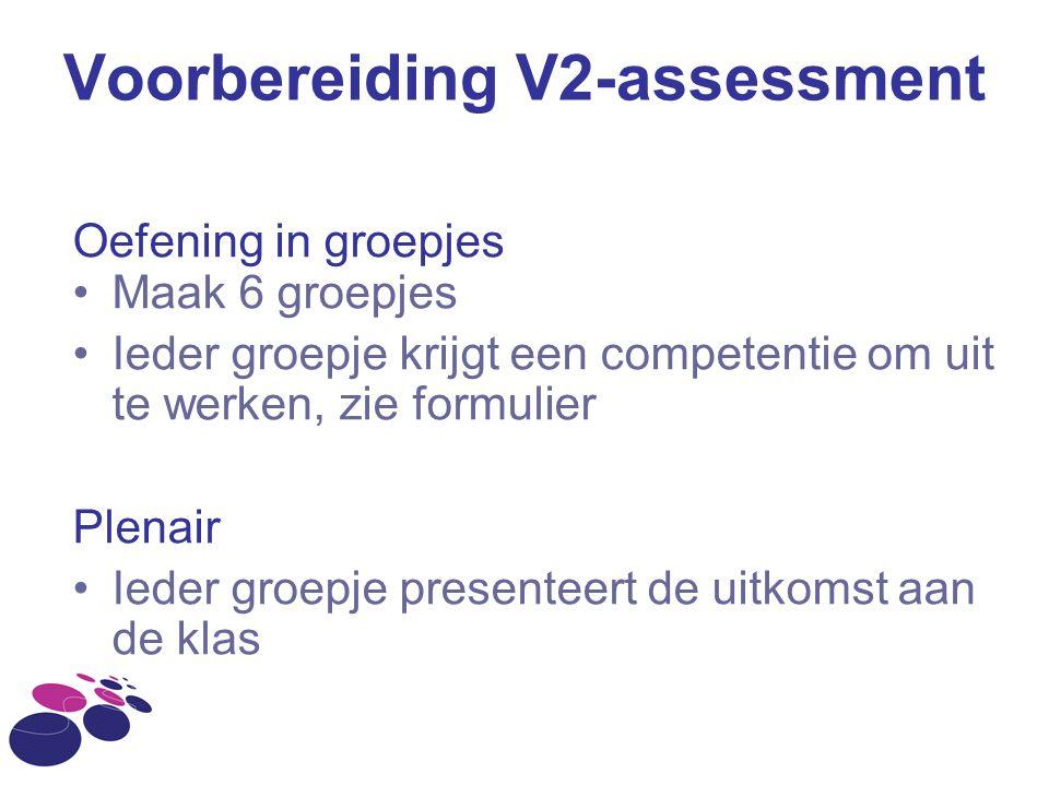 Voorbereiding V2-assessment