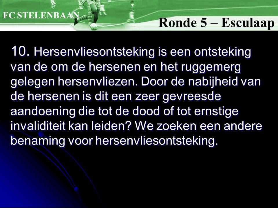 FC STELENBAAN Ronde 5 – Esculaap.