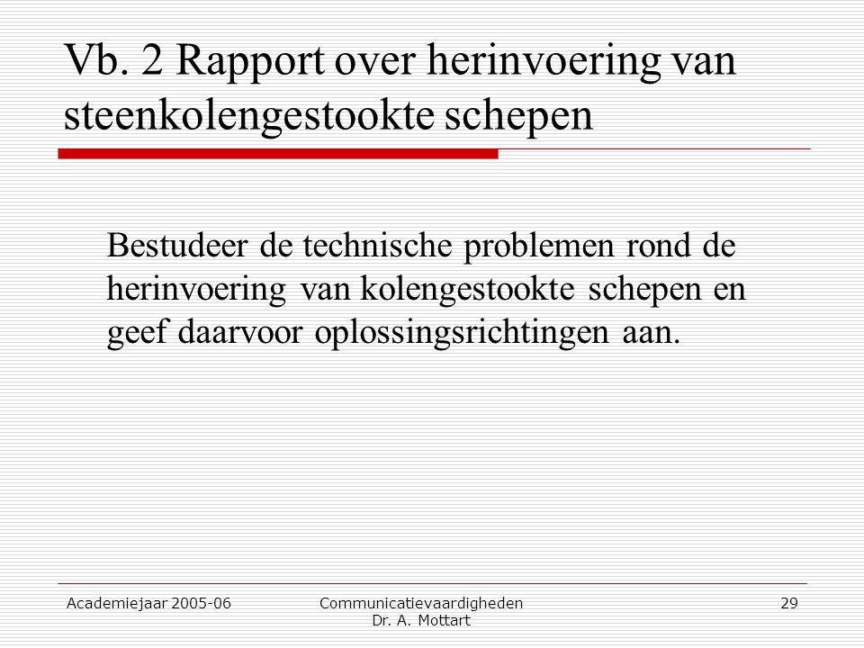Vb. 2 Rapport over herinvoering van steenkolengestookte schepen