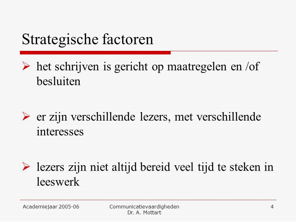 Strategische factoren