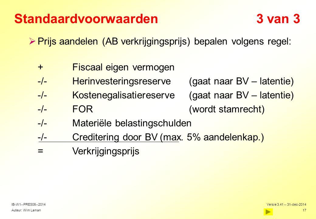 Standaardvoorwaarden 3 van 3