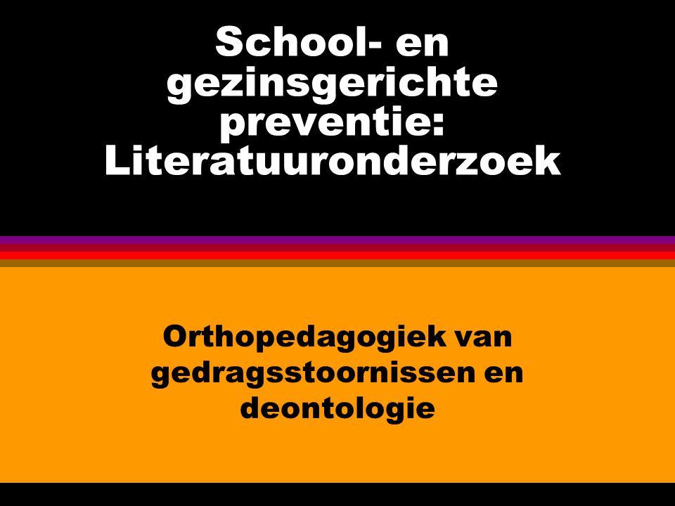 School- en gezinsgerichte preventie: Literatuuronderzoek