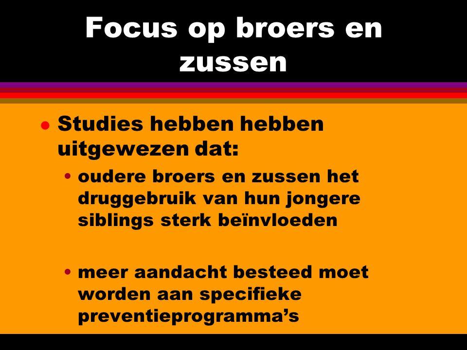 Focus op broers en zussen