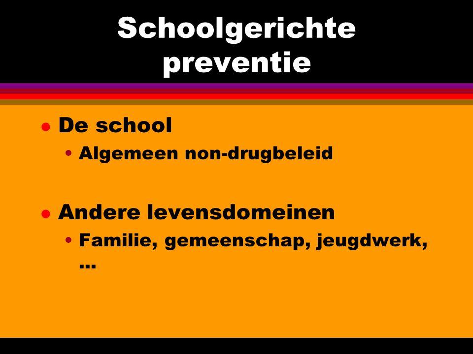 Schoolgerichte preventie