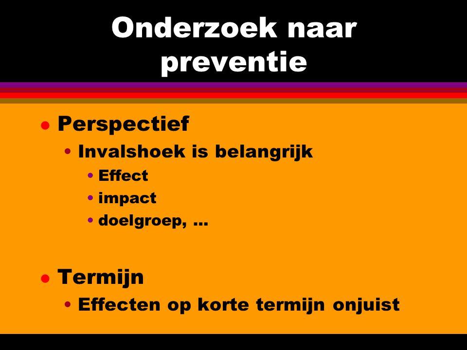 Onderzoek naar preventie