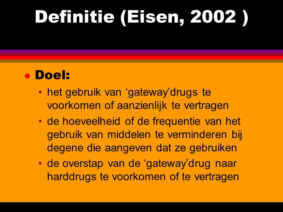 Definitie (Eisen, 2002 ) Doel: