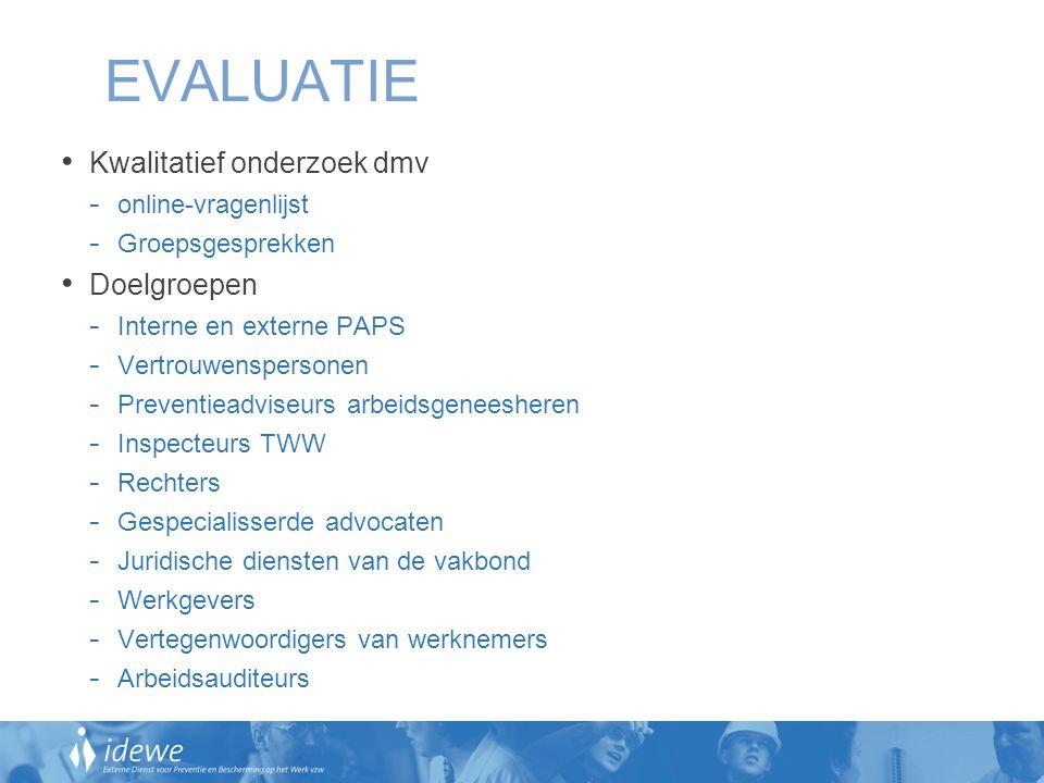 EVALUATIE Kwalitatief onderzoek dmv Doelgroepen online-vragenlijst