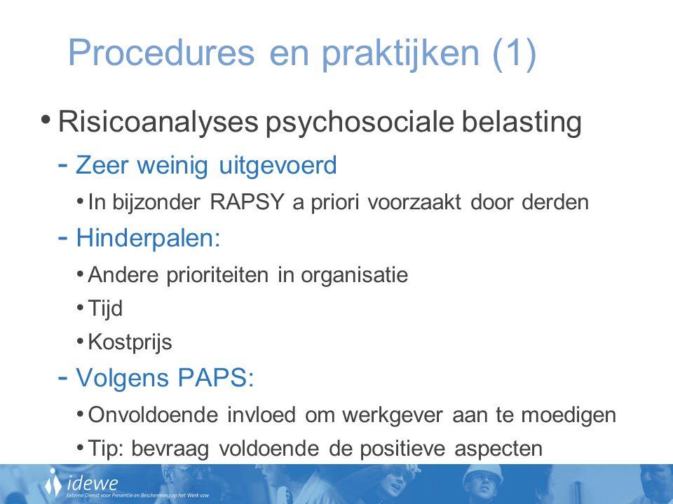 Procedures en praktijken (1)