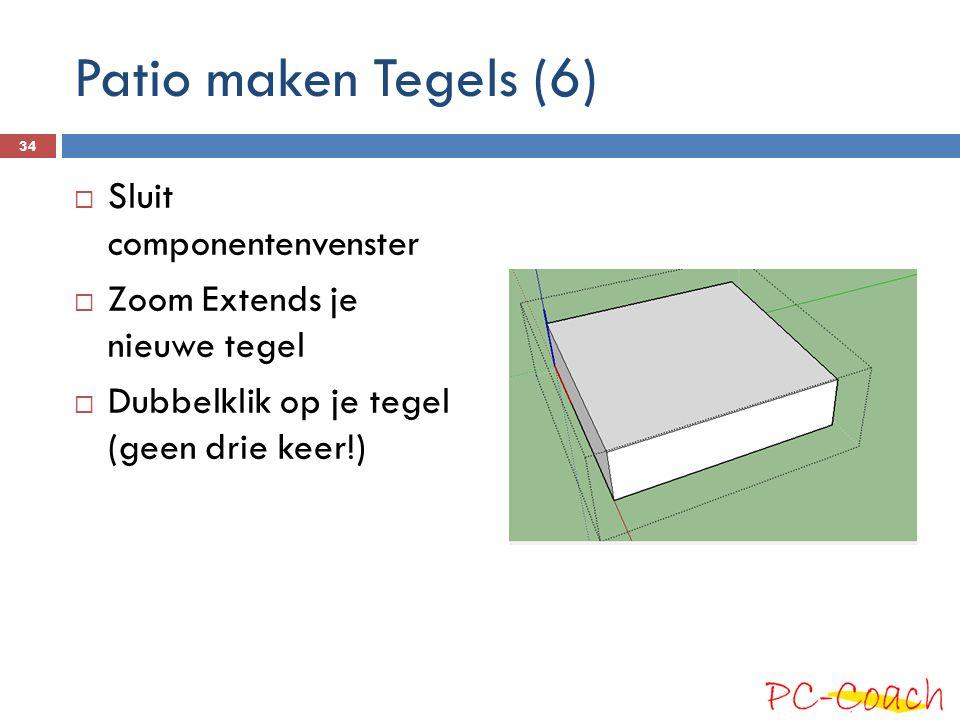 Patio maken Tegels (6) Sluit componentenvenster