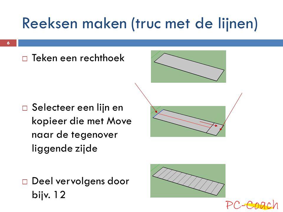 Reeksen maken (truc met de lijnen)