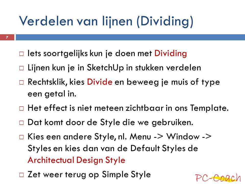 Verdelen van lijnen (Dividing)