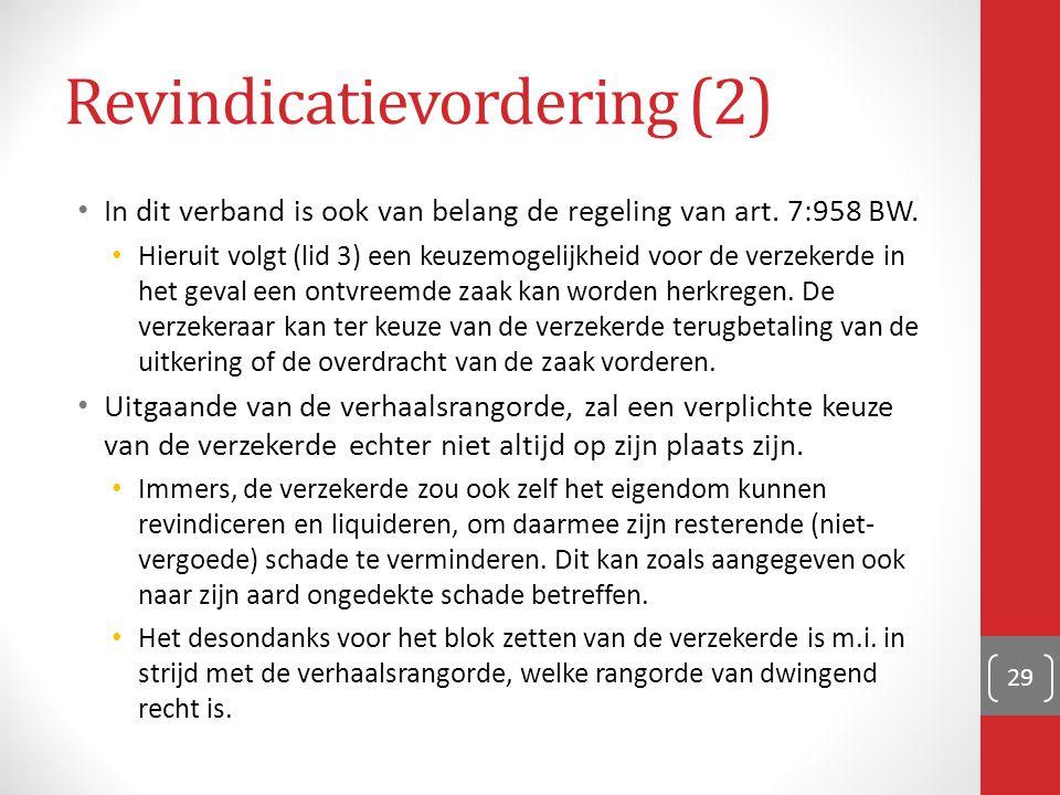 Revindicatievordering (2)