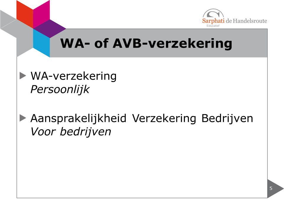 WA- of AVB-verzekering
