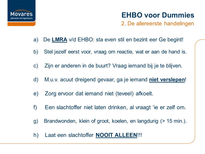 EHBO voor Dummies 2. De allereerste handelingen