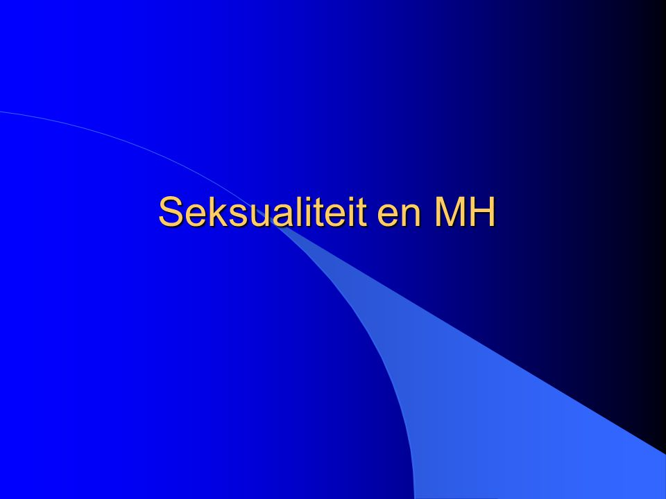 Seksualiteit en MH