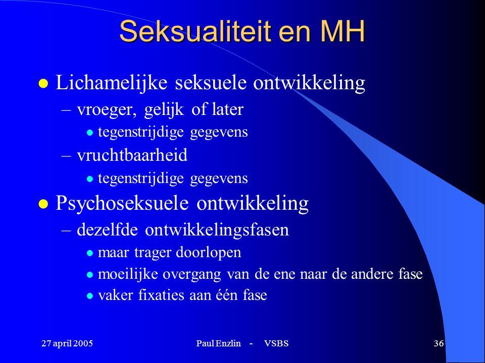 Seksualiteit en MH Lichamelijke seksuele ontwikkeling