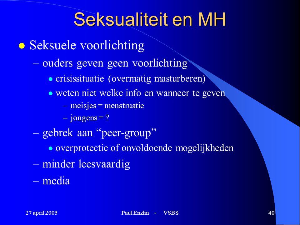 Seksualiteit en MH Seksuele voorlichting