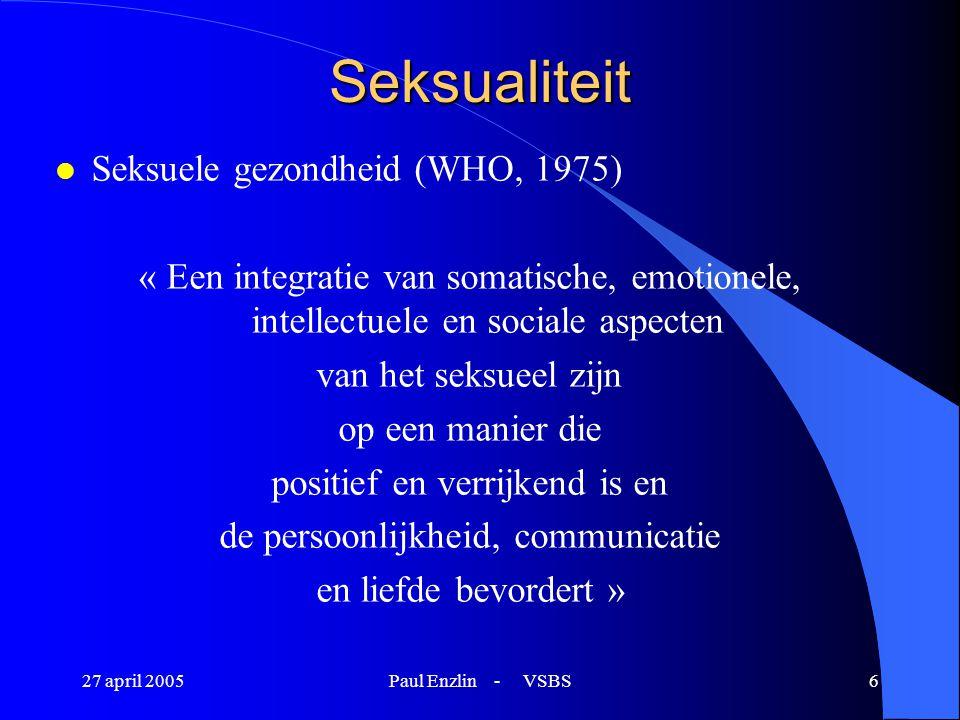 Seksualiteit Seksuele gezondheid (WHO, 1975)