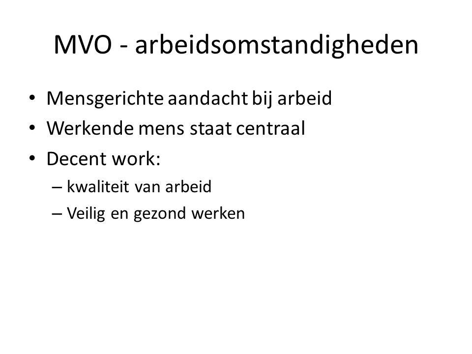 MVO - arbeidsomstandigheden