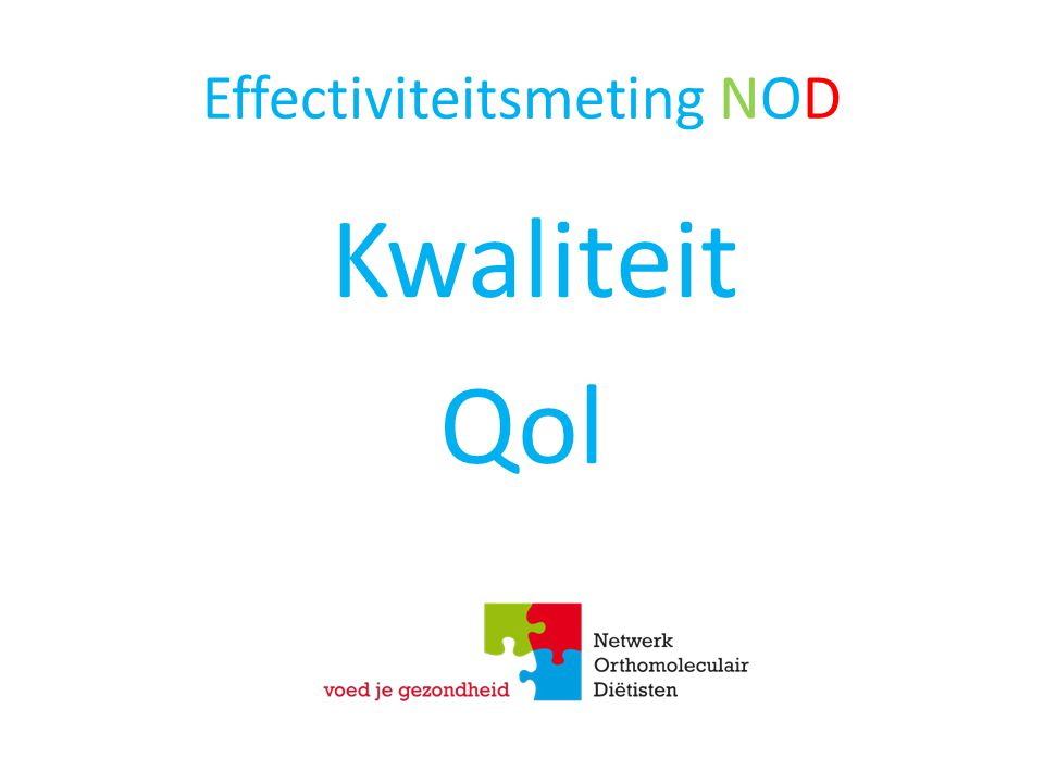 Effectiviteitsmeting NOD