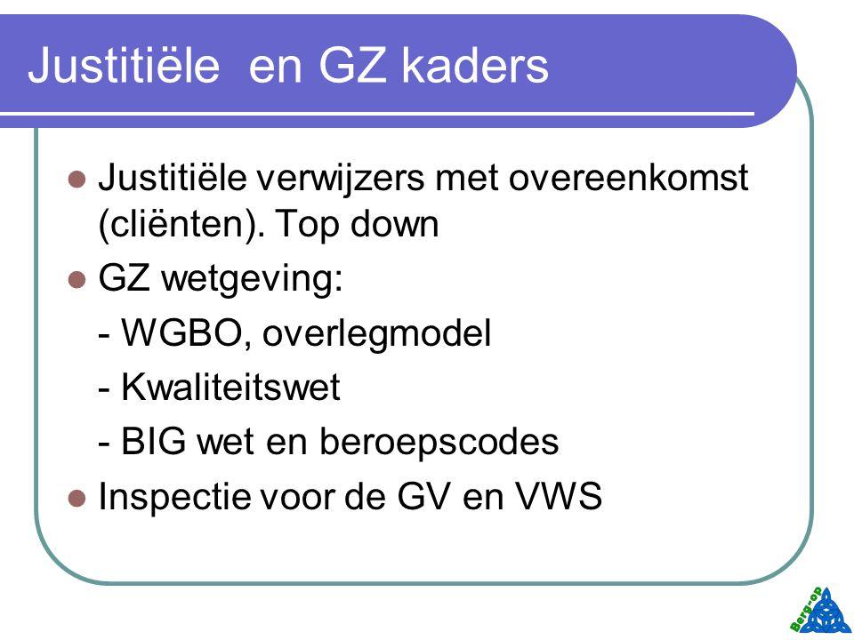 Justitiële en GZ kaders