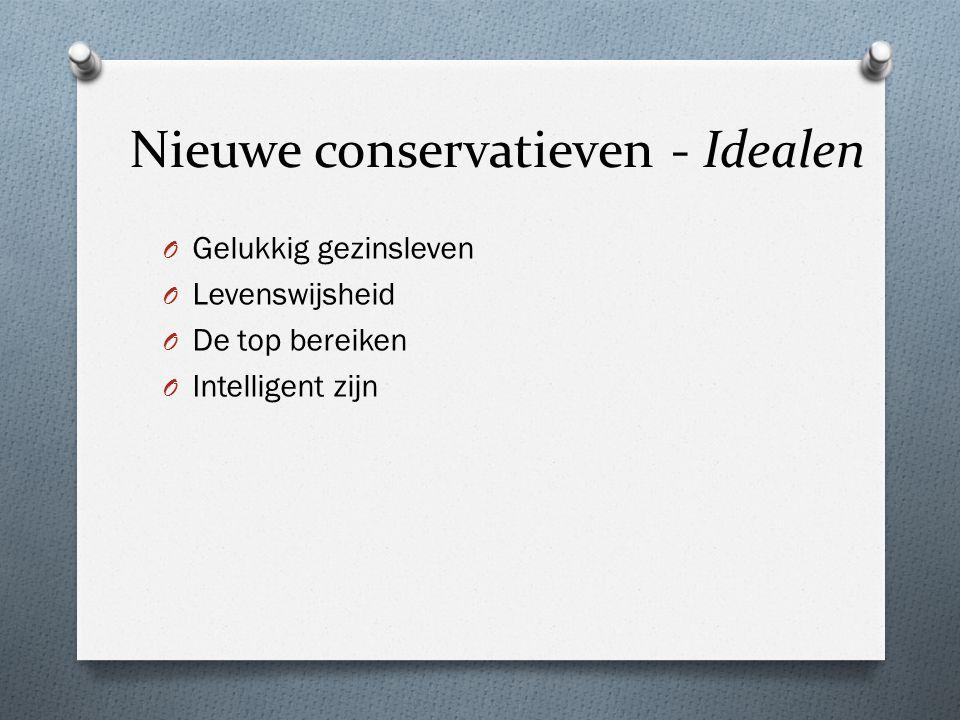 Nieuwe conservatieven - Idealen