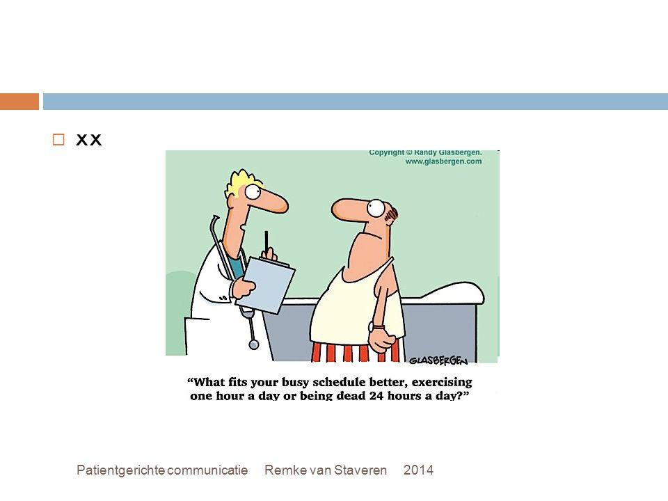 xx Patientgerichte communicatie Remke van Staveren 2014
