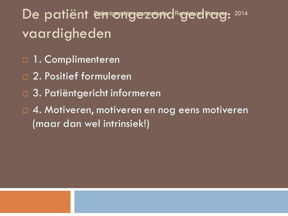 De patiënt en ongezond gedrag: vaardigheden