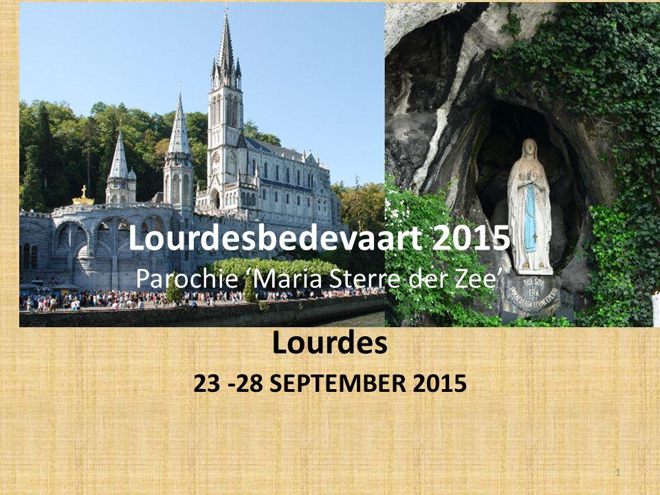 Lourdesbedevaart 2015 Parochie 'Maria Sterre der Zee'