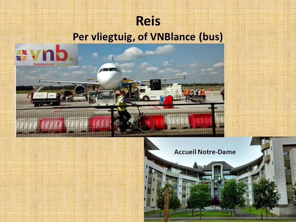 Reis Per vliegtuig, of VNBlance (bus)