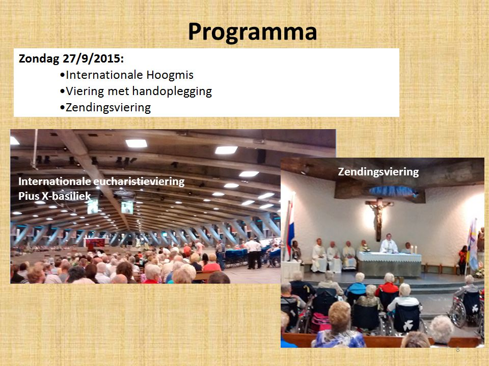 Programma Internationale Eucharistieviering Zendingsviering
