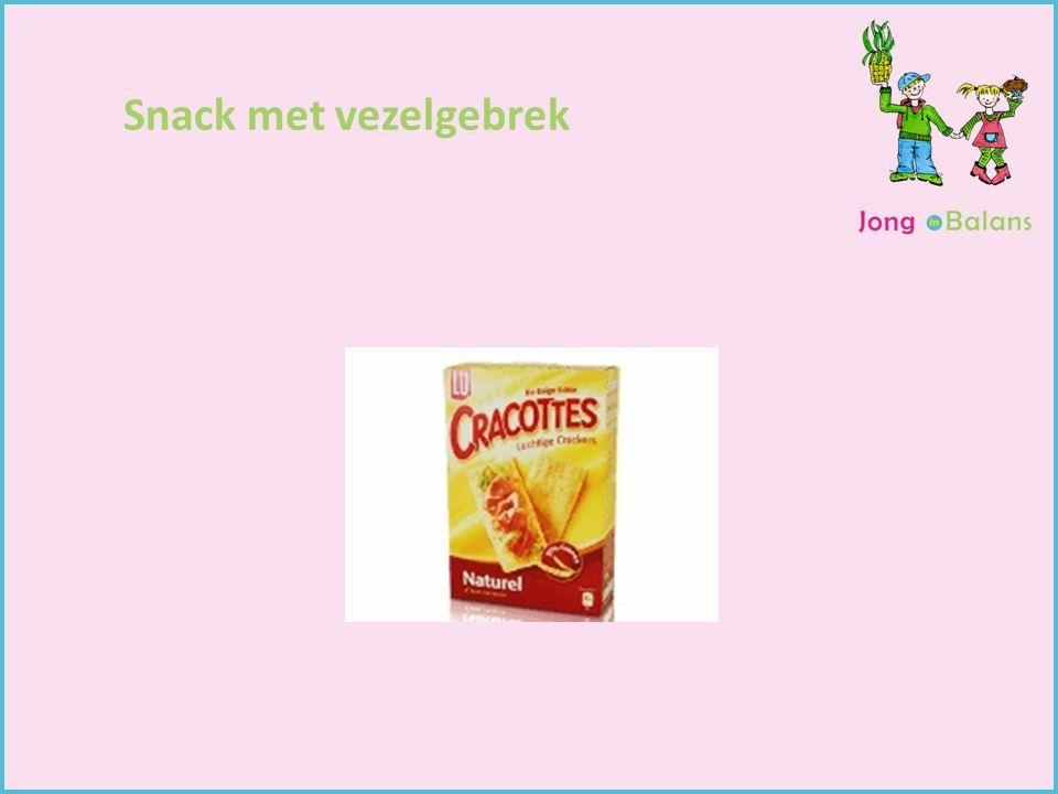 Snack met vezelgebrek Gewichtsconsulent Begeleiding van kinderen