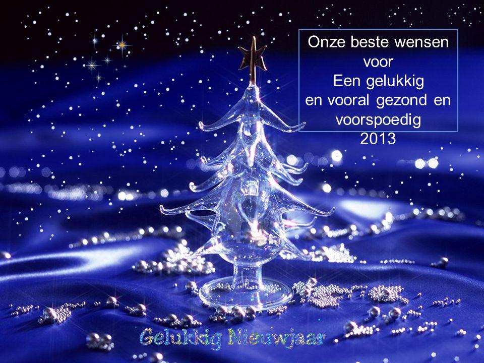 Onze beste wensen voor Een gelukkig en vooral gezond en voorspoedig 2013