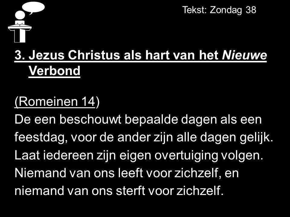 3. Jezus Christus als hart van het Nieuwe Verbond (Romeinen 14)