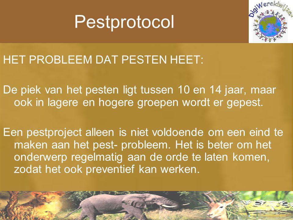 Pestprotocol HET PROBLEEM DAT PESTEN HEET: