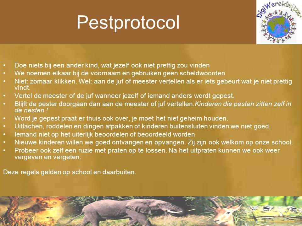 Pestprotocol Doe niets bij een ander kind, wat jezelf ook niet prettig zou vinden.